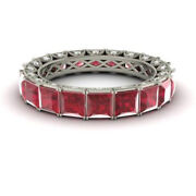 4.40 Carat Real Diamond Ruby Wedding Bands 14k Solid White Gold Size 5 6 7.5 8 9