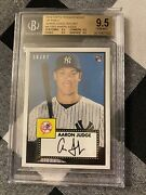 2018 Topps Transcendent Vip Party Aaron Judge Rookie 1952 Gem Mint Bgs 9.5 Dc