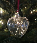 Andnbspnew In Box Steuben Glass Puffy Heart Ornament Crystal Christmas Tree Gift