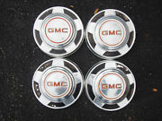 Vintage Oem 1973-87 Gmc 2wd 1/2 Ton Truck Dog Dish Poverty Hubcaps Wheel Covers