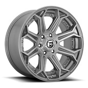 Fuel D705 Siege 22x10 6x139.7 Et-18 Brushed Gunmetal Tinted Clear Qty Of 4