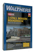 Walthers Ho 3-stall Modern Roundhouse Kit 933-2900