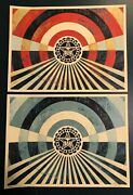 Shepard Fairey Tunnel Vision Alternative Variant Set Obey Giant Poster Prints