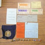 British Canada Wwi Wwii Items 1 Family Soldier Ration Books 1903 Letter Bracelet