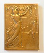 Original 1901 Bronze Basel Joining Swiss Confederation 400th Anniversary Medal