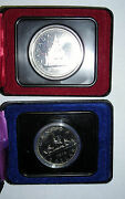 1975 And 1976 Royal Canadian Boxed Mint Sets Of The One Dollar Coin