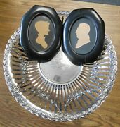Lord Baltimore Calvert Family Sterling Silver Pedestal Compote And Silhouettes