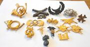 16 Pc Old Us Military Pins Hat Badges 1870-1920s Ww1 Medical Indian Civil Wars