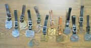 13 Vint Tractor Company And Dealers Watch Fobs Keychains Cat Lorain Michiganmarion