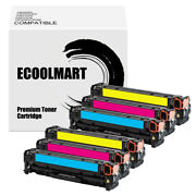 6 Cmy Toner Replace For Hp Ce321a 128a Color Laserjet Cp1526nw Cm1416 Cm1412fn