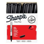 Sharpie Fine Permanent Markers Black Pack Of 36