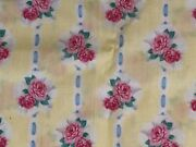 Vintage Daisy Kingdom Fabric Lot Ballet Rose Bouquet Pink Yellow Material