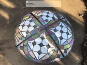 Antique Equisite 4 Ft Across Vented 4 Pc Pie Glass Opal Refraction Read