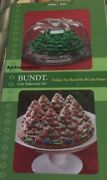 Nordic Ware Bundt Pan Train Trees Carrying Cover Case Keeper Nib Last One