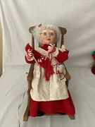 Vintage Santa's Best Animated Collectible Mrs. Claus Rocking Chairw Orig Box
