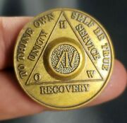 Vintage Alcoholics Anonymous H.o.w. 14 Year Aa Back Recovery Medal Chip Token