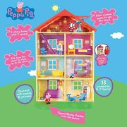 New Sealed Jazwares Peppa Pig Lights And Sounds Family Home Feature Playset