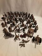 Huge Vintage Lot Of 50 Barclay Manoil Lead Metal Wwii Military Soldiersand More