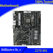 For Asus Z270-ws Motherboard Support Lga1151 Ddr4 64gb Dp+hdmi Atx Standard