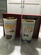 Two Starbucks Siren Gold Lid Tumblers And Gift Card 2014 And 2015 Mermaid Dot New