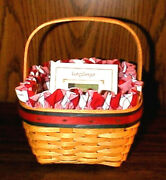 Longaberger Retired 2001 All American Strawberry Basket Set-new-shop Our Store