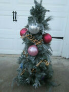 Victoria Secret Pink Christmas Tree With Ornaments