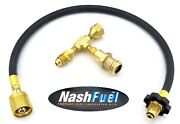 Propane Tank Extended Use Adapter Kit Food Truck Concession Trailer Bbq 100lb