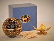Limoges Vintage Le Grand Times Square Luster Ball W/stand 133/1500 Nib W/cert.