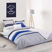 Lacoste Auckland Duvet Set Blue Twin/twin Extra Long