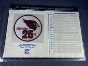 F5-41 Nfl Patch - St. Louis Cardinals 25th Anniversary - 1984