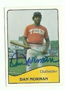 Dan Norman 1979 Tcma Tidewater Tides Signed Auto Autographed Card