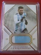 Lionel Messi Futera Jersey Card Soccer No Eminence Immaculate Panini Topps Leaf