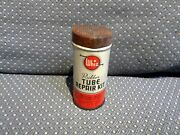 Vintage Whiz Hollingshead Rubber Tube Repair Patch Kit Tin Container