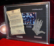 Underworld Prop Scroll And Hand Signed Bill Nighy Autograph Dvd Coa Frame Uacc