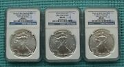 2014-s, 2014 And 2014-w Silver Eagle - Ngc Graded Ms69