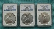 2014-s 2014 And 2014-w Silver Eagle - Ngc Graded Ms69