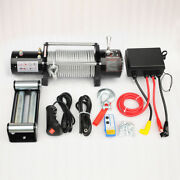 Vi 13000lb Electric Recovery Winch Universal Dc12v/24v Steel Cable Rope Towing
