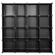 Home Use16 Cube Organizer Stackable Plastic Cube Storage Shelves Rack Diy