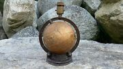 Vintage World Globe Lamp Made By Idealight Inc. New Jersey Rare Table Desk Lamp