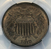 1870 Two Cent Piece Pcgs Ms 64 Rb Cac