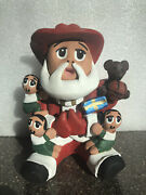 Santa Claus Storyteller With Three Children On His Lap By Ramey 2008
