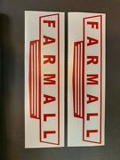 2 Farmall Large Classic Stickers Decal Tractor Case Ih International Harvester
