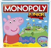 Monopoly Junior Peppa Pig Edition Board Game For 2-4 Players Kids Gift