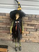 Rare Department 56 Halloween Witch Collectors Item Nwt 275