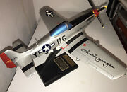 Five P-51 Mustang Desk-model Signed By Genreral Chuck Yeager 124 Scale 5 Ea.