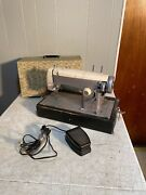 Sears Kenmore Model 158-523 Vintage Sewing Machine W/pedal And Case