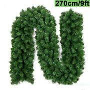 9ft Christmas Garland Artificial Wreath Pine Tree Stairs Home Rattan Decor Lot