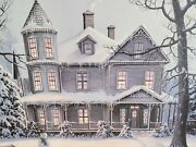 Jesse Barnes Signed And Numbered Print 1989 Frost And Gingerbread 1389 / 2000