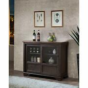 D6490-4 Brown Wood Wine Rack Sideboard Buffet Server Storage Cabinet With Dra...