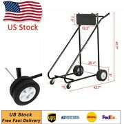 315lbs Outboard Heavy Duty Boat Motor Stand Carrier Cart Dolly Storage Pro Tool